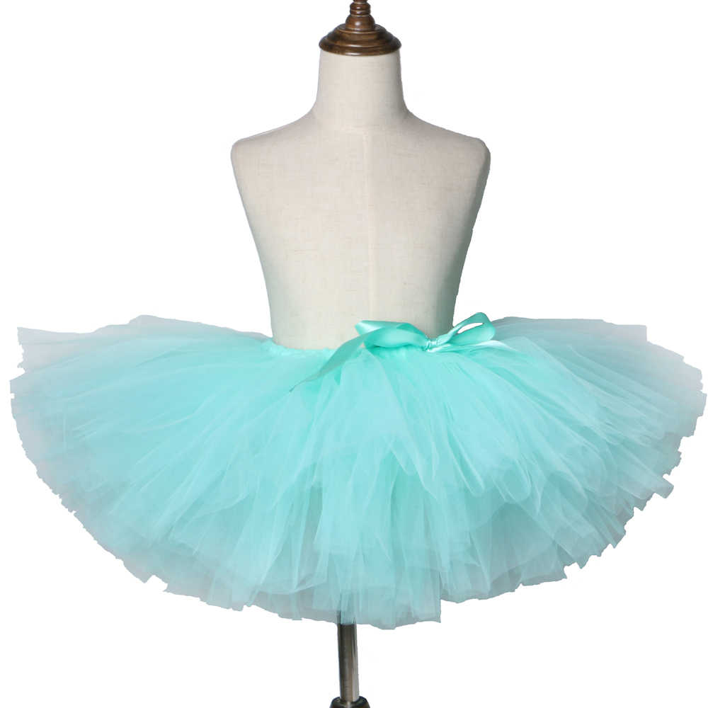 6d1cd87a3 Falda tutú verde menta para niñas falda de Ballet mullida para Niñas ...