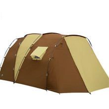 500*280*195 Large Camping Tents 5-8 Person Two Bedrooms Climbing Outdoor Tents Waterproof  Double Layer Camping Hiking Tent сумка клатч la redoute с помпонами uni черный