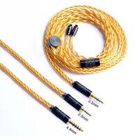 OKCSC 0,78 мм обновления кабель 2pin разъем 2,5 мм Баланс штекер 3,5 мм/4,4 мм Jack 7 ядер 49 проволоки Позолоченные OCC для SONY WM1Z/WM1A