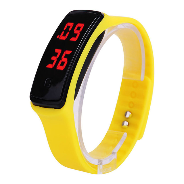 Fashion Sport LED Women Watches Candy Color Silicone Rubber Touch Screen Digital