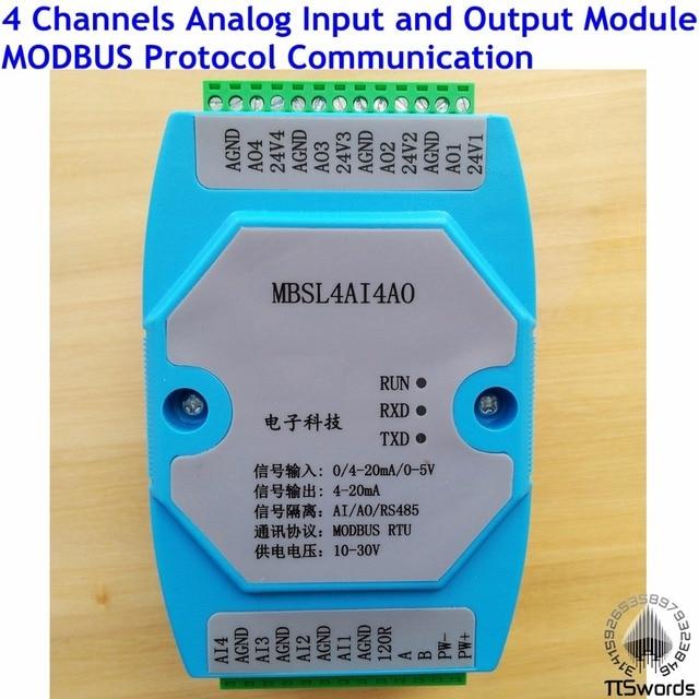 Analog Eingang und Ausgang 4 Channels 12 bit AD/DA isoliert 4AI/4AO ...