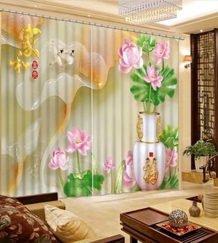 Custom Blackout Hand-painted mountain Design Curtains Bedroom Home Decoration Curtains For Living Room Luxury Curtains