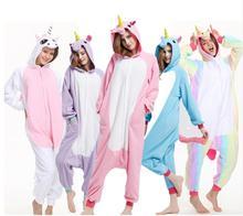 Животных единорог пижамы Наборы для ухода за кожей Onesie стежка Panda  костюм для взрослых kugurumi Хеллоуин 2e3621b589c88