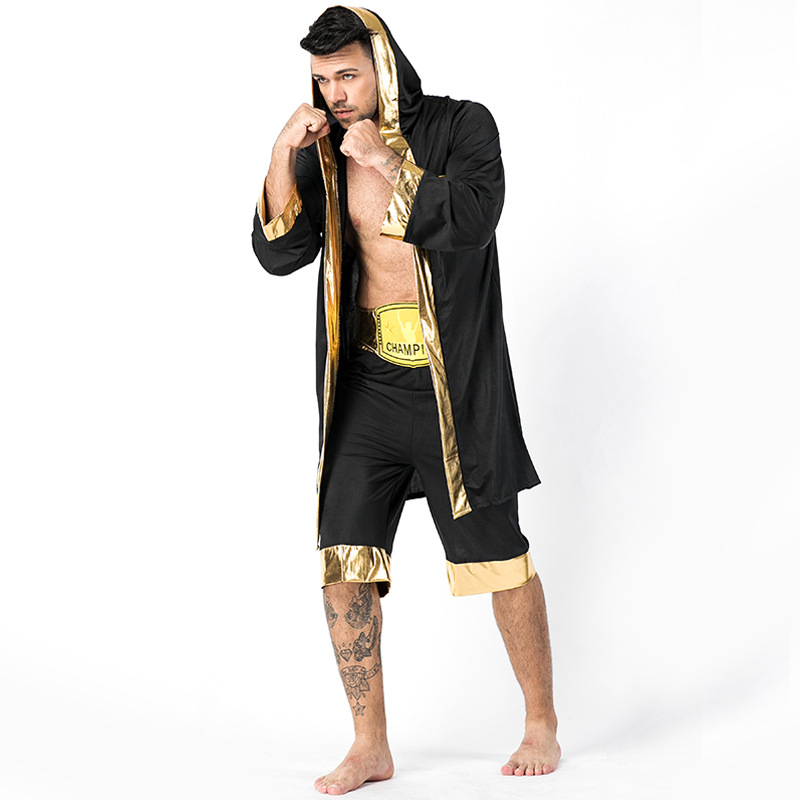 AdultMens World Champion Boxer Uniform Costume