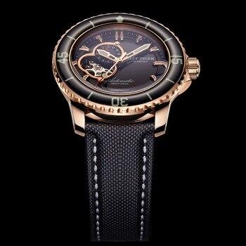 цена Reef Tiger/RT Sport Automatic Watches for Men Rose Gold Super Luminous Diving Watch 200M RGA3039 онлайн в 2017 году