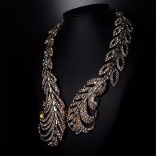 Long Bohemian Gold Feather Necklace