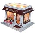 Casa de boneca Diy modelo artesanal de madeira Kits 3D Dollhouse miniatura luz dia dos namorados brinquedo de natal