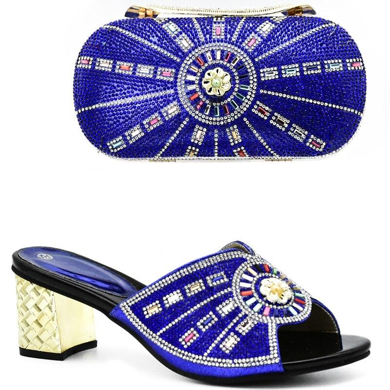 Taschen Stein Blau Passende purpurrot gold Italienischen Passenden Nigerian Tasche Mit Blau Schuhe Farbe Und Set rosa Afrikanische Schuh BwxBOqX6