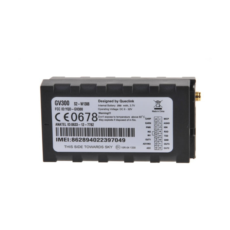 GV300 Vehicle Tracker Multiple I/O Interfaces For Monitoring And Control 90 Hours Standby Time Low Power Consumption