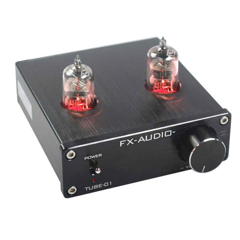 FEIXIANG FX-AUDIO TUBE-01 bile preamp tube amplifier preamp bile buffer 6J1 MINI HIFI preamplifier DC12V silver mini tube amplifier appj pa0901a 6n4 6p14 tube upgrade to el84 12ax7b original minwatt n3 smallest tube audio amplifier