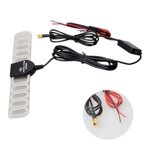 цена на Auto analog digital TV DVB-T TV / DVB-T2 / ATSC / BID FM Radio Antenna Signal Amplifier For Car DVD Radio SMA connectors