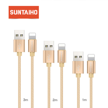 USB Cable For Iphone Lightning Cable [3-Pack]1M/2M/3M ,Suntaiho Nylon Braid USB Cable 5V 2.1 Fast Charging cable for iPhone 7 6s