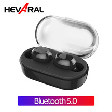 Hevaral TWS 5.0 Bluetooth V5.0 Earphone Touch Control IPX7 Waterproof True Wireless Earbuds Mini In Ear Stereo Headsets With MIC