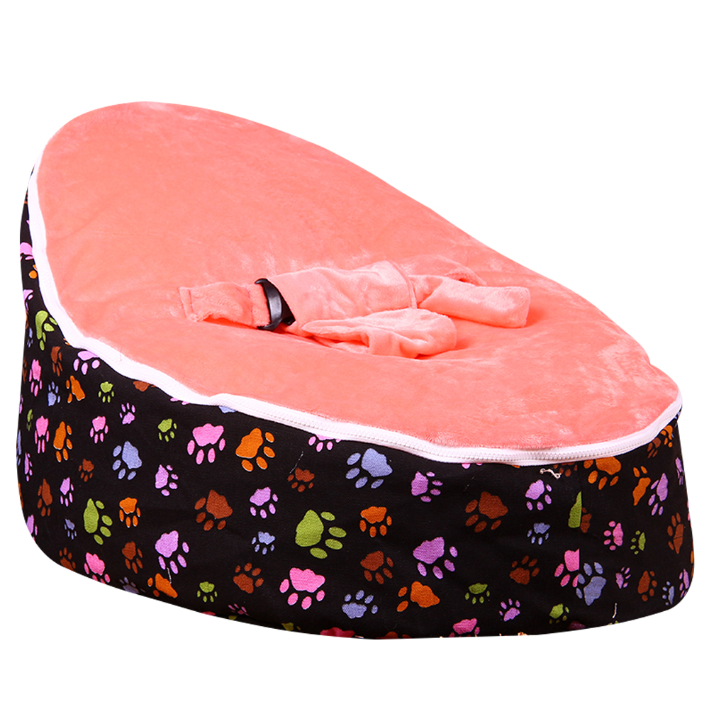 Lazybaby Medium Paw Print Baby Bean Bag Chair Kids Bed For Sleeping Portable Folding Newborn Seat Sofa Zac With The Filler In Cribs From Mother