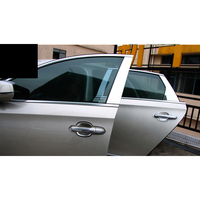 lsrtw2017 304 stainless steel car window trims for cadillac xts 2013 2014 2015 2016 2017 2018