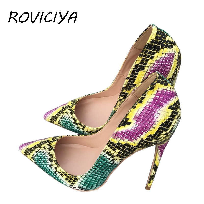 3899274346 Green Glitter bling bling wedding shoes 12 cm high heel pumps sexy ...