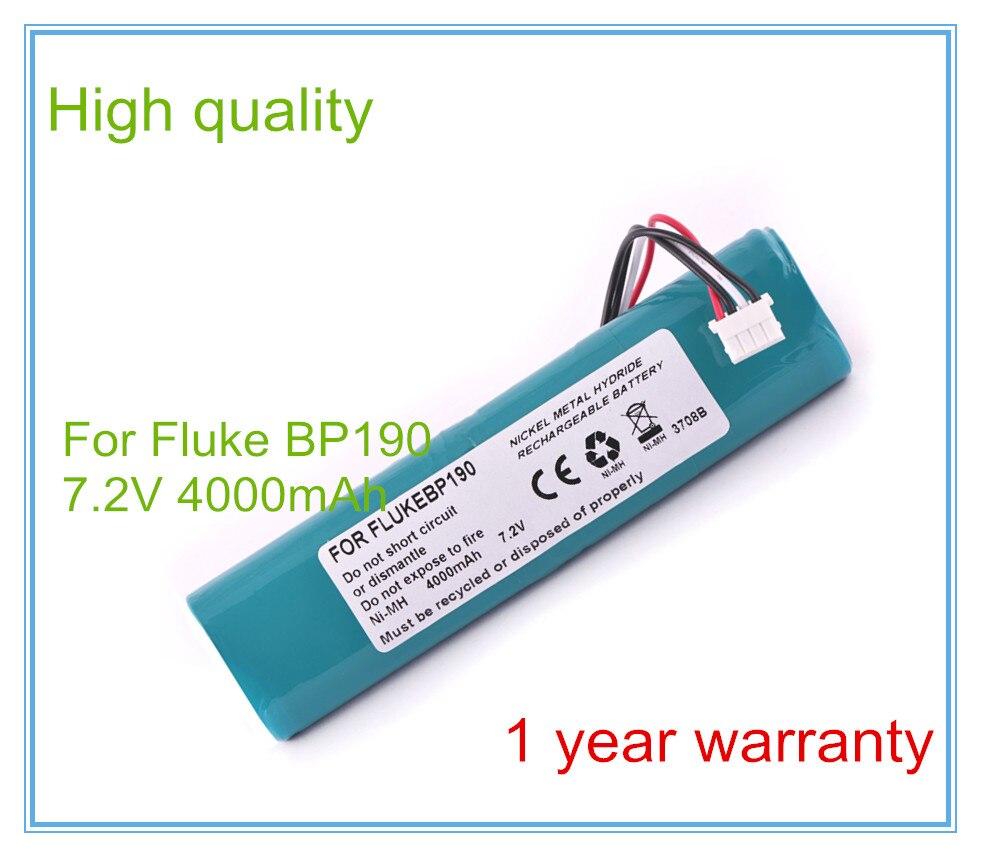 AKKU f Fluke Scopemeter 192 192B 192-B B-11432 3600mAh