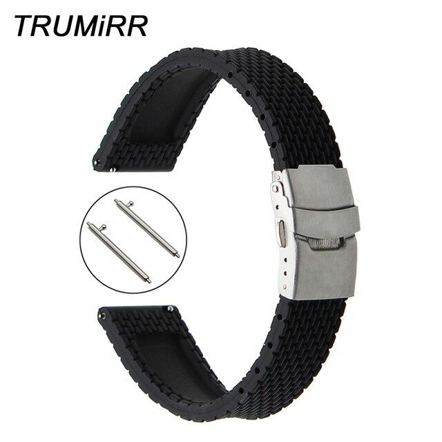 6109ac65a4e Borracha de Silicone Pulseira de Liberação rápida para Mido Homens Mulheres  Relógio de Pulso de Banda