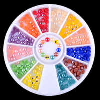 DIY Nail Art Decorations 2MM Candy Colors Semicircle Acrylic Pearl Wheel Nail Glitter Rhinestones Manicure tools