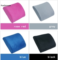 Chair Seat Pads Memory Foam Lumbar Back Support Cushion Pillow For Home Car Auto Seat Office