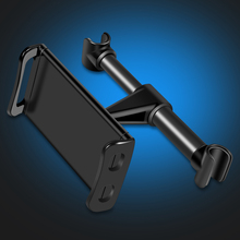 2019 Car Phone Holder Headrest Bracket 360 Degree Rotation Adjustable Universal Back Seat Stand For iPhone 6 7 8 Plus X Tablets 180 degree rotation holder mount w h01 suction cup c60 back clamp for 7 10 inch tablets black