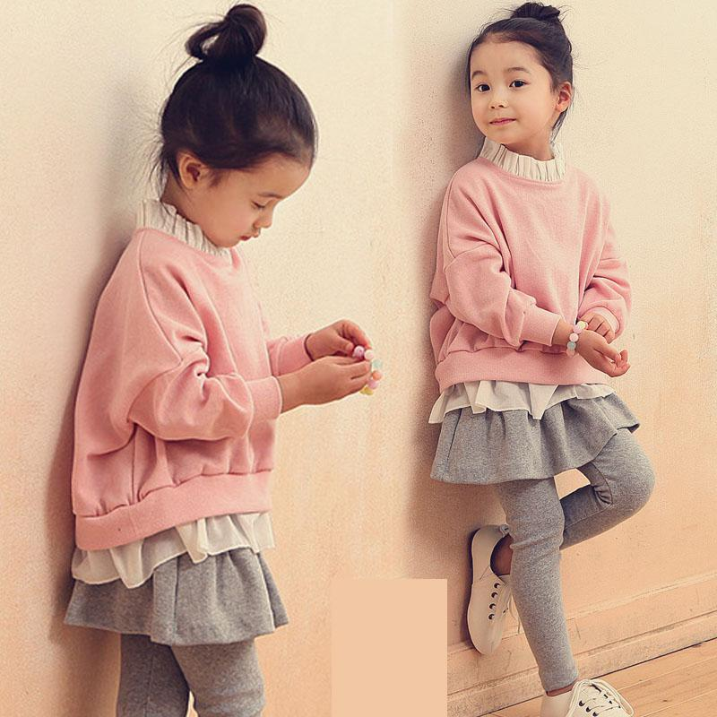9fb227eee43 Detail Feedback Questions about Toddler Girls Clothing Set 2018 Kids  Clothes Autumn Sweatshirts + Skirts Leggings 2pcs Teenage Girls Fashion  Children ...