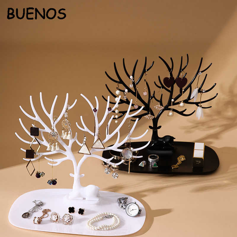 Buenos Deer Earrings Necklace Ring Pendant Bracelet Jewelry Display Stand Tray Tree Storage jewelry Organizer Holder