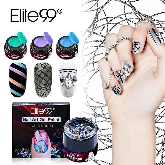 Elite99 5 Ml Diamond Deco Nail Gel Varnishes Polish Multi Functional Art Painting