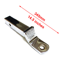 Long Trailer Hook Silver Chrome Towing Bar 345mm in Length Trailer Accessories