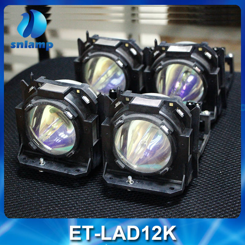 4pcs/lot Original ET-LAD12KF Projection lamp with housing for Panasonic PT-D12000 PT-DW100 PT-DZ12000 ect panasonic et lad12kf replacement lamp for the panasonic pt d12000 pt d12000u pt dw100 pt dw100u pt dz12000u projectors 4 pack