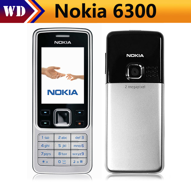 Original Nokia 6300 Unlocked Mobile Phone Tri-Band Multi-language russian and arabic language and keyboard feature phone