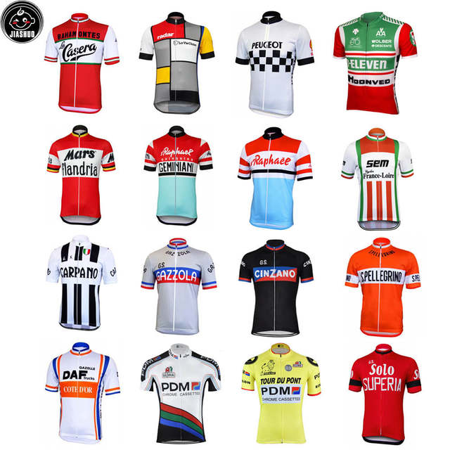 85368cc6e Online Shop Classical Retro NEW pro Mountain Road RACE Team Bike Cycling  Jersey Tops Breathable Customized Jiashuo Multi Types