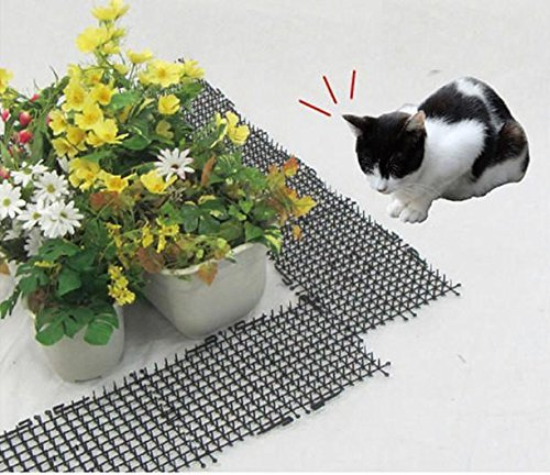 Garden Cat Dog Scat Mat – Cats and Dogs Repellent Mat Plastic Spike-Keeping cats and dogs from digging