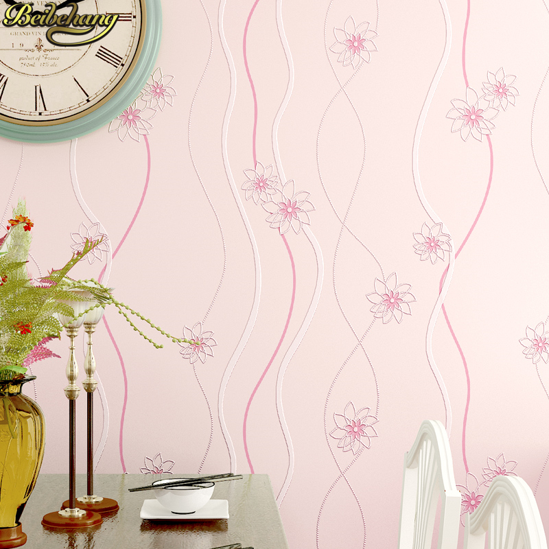 beibehang pink blue purple beige Stripe flowers Wallpaper Roll Vintage Floral Wall Paper roll 3D wallpapers for living room shinehome sunflower bloom retro wallpaper for 3d rooms walls wallpapers for 3 d living room home wall paper murals mural roll