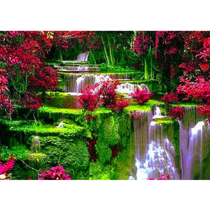 Diamond Embroidery 5d diy diamond painting crystal Waterfall handcraft diamond embroidery Landscape needlework kits Cross