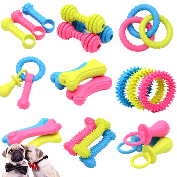Pet Toys for Small Dogs Rubber Resistance To Bite Dog Toy Teeth Cleaning Chew Training Toys Pet Supplies Puppy Dogs Cats pet dogs rubber rod feed toy dog chew toy for dog tooth clean rod of extra tough rubber puppy toy biting resistance pet supplies