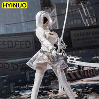 1/6 Scale Sexy Girl Robot 2B Sister Sexy Neil White Stockings Suit Figure Sculpt Model 12' Full Set Female Action Figure Dolls
