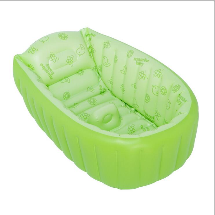 VILEAD 3 Colors PVC Portable Inflatable Baby Shower Tub Large Size ...
