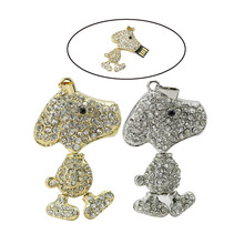 Jewelry USB Flash Drive 64GB Diamond Dog Pendrive 1GB Necklace Cle USB 128GB Memory Stick Girl