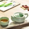 Высококачественный дорожный чайный набор Ru kiln включает в себя 1 кастрюлю 1 чашку  красивый и легкий чайник керамика элегантный gaiwan  чайный на...