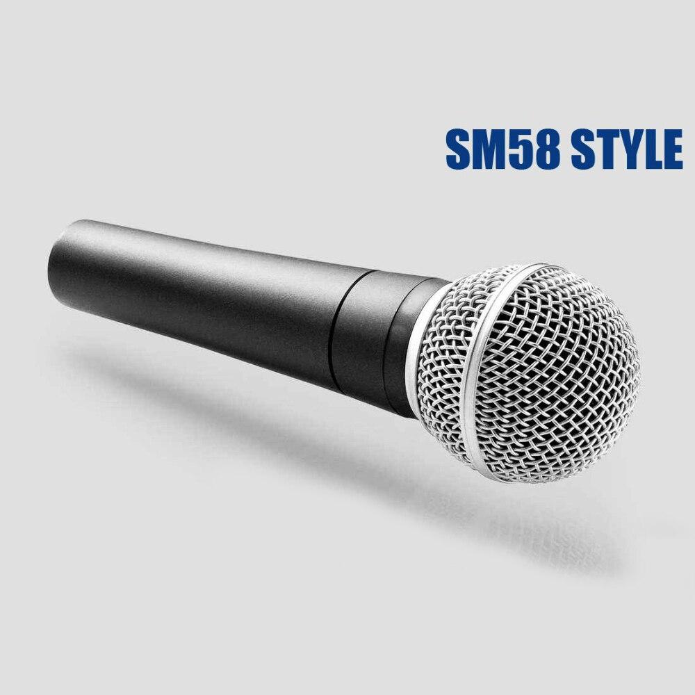 Sm 58 57 clássico tradicional com fio microfone handheld vocal karaoke cantando sm58lc sm58 microfone dinâmico