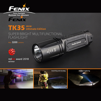 Red Dot Award 2018 Winner Fenix TK35UE Cree XHP70 светодиодный 3200 люмен перезаряжаемый супер яркий многофункциональный фонарик