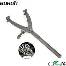 Boruit ユニバーサルオートバイスパナフライホイールクラッチハブロータースプロケットスパナレンチ調節可能な滑車修復ツール