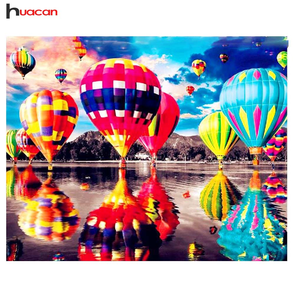 Bright Diamond Embroidery Hot Air Balloon Turkey Style Full Square Resin Drill Diamond Painting Rhinestone Bead Work Handmade Craft Promoting Health And Curing Diseases Diamond Painting Cross Stitch