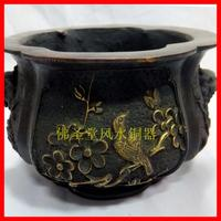 Bronze bronze sculpture, pattern crafts decoration exquisite copper incense burner copper incense stove