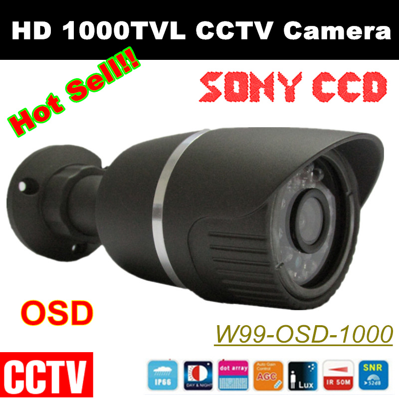 HD 1000TVL Security Camera 1/3Sony CCD Effio-e 36 leds with OSD Menu Waterproof CCTV Camera With Best Quality 1 3 sony ccd effio e 700tvl 673 4140 osd menu array leds ir 30m outdoor waterproof cctv camera with bracket cy 90v c2010d