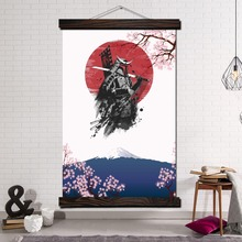 Modern Canvas Art Prints Poster Wall Painting Scroll Pictures Cherry Blossoms Japan Samurai