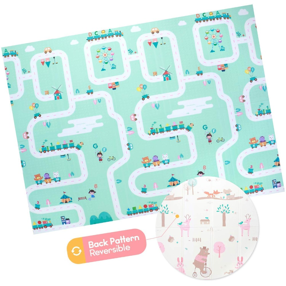 Xpe esteira de brinquedos para crianças, esteira para brincadeiras, tapete de jogo para crianças, enigma infantil cobertor infantil