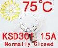KSD301 75 градусов 250 В Нормально Замкнутый Переключатель Температуры Термостат х 10 ШТ. БЕСПЛАТНАЯ ДОСТАВКА