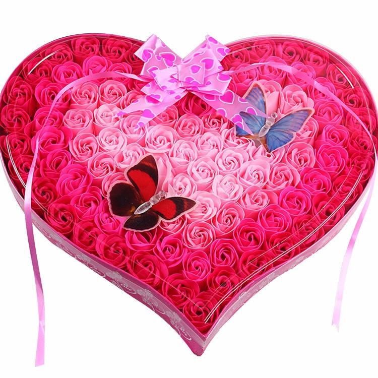 100kpl hajustettua paperia ruusukukkakylpysaippua, jossa on 2 - Tavarat lomien ja puolueiden - Valokuva 4